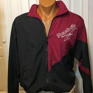 Vintage 80s Reebok Hooded Windbreaker Mens Jacket